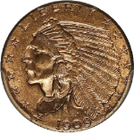 1909 Indian Gold $2.50 PCGS MS63 Nice Eye Appeal Nice Luster Spot Free
