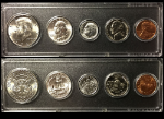 1964 Year Coin Set Half Quarter Dime Nickel Cent in a Whitman Holder