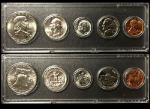 1963 Year Coin Set Half Quarter Dime Nickel Cent in a Whitman Holder