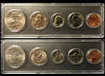 1992 Year Coin Set Half Quarter Dime Nickel Cent in a Whitman Holder