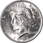 1922-P Peace Dollar PCGS MS64+ Superb Eye Appeal Fantastic Luster  - STOCK