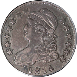 1814 Bust Half Dollar PCGS XF40 O-104a Tough To Find This Nice Nice Strike