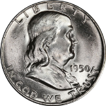 1950-P Franklin Half Dollar Choice BU