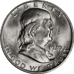 1949-D Franklin Half Dollar Choice BU