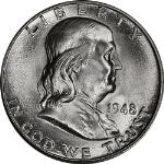 1948-D Franklin Half Dollar Choice BU