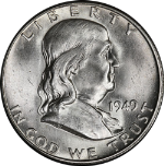 1949-S Franklin Half Dollar Choice BU
