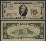 Alliance OH $10 1929 T-2 National Bank Note Ch #3721 Alliance First NB XF