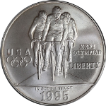 1995-D Olympics Cycling Silver Commemorative $1 PCGS MS69