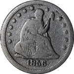 1856-S Seated Liberty Quarter VG Detail Decent Eye Appeal