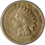1860 Pointed Bust Indian Cent