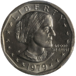 1979-P Susan B. Anthony Dollar PCGS MS65 Wide Rim Nice Eye Appeal