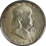 1948-P Franklin Half Dollar PCGS MS66FBL Great Eye Appeal Nice Luster