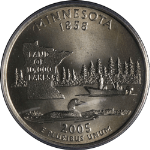 2005-P Minnesota Statehood Quarter Extra Tree DDR-001 PCGS MS66 - STOCK