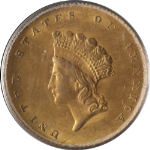 1855-P Type 2 Indian Princess Gold $1 PCGS MS61 Decent Eye Appeal Nice Strike
