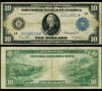 FR. 907 A $10 1914 Federal Reserve Note Boston VF