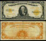 FR. 1173 $10 1922 Gold Certificate Very Fine