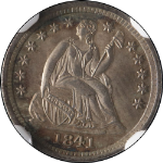 1841-P Seated Liberty Half Dime NGC MS65 Fantastic Luster Nice Strike