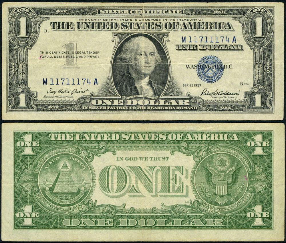 Fr 1619 1 1957 Silver Certificate M11711174a Fine