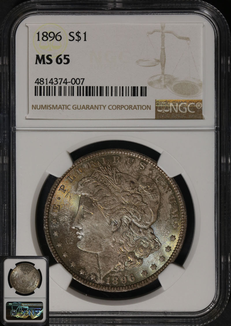1896 P Morgan Silver Dollar Ngc Ms65 Great Eye Appeal