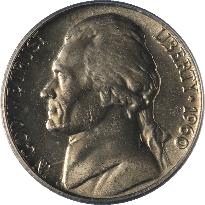 1966 UNC Jefferson Nickel Nice Buisness Strike FREE SHIPPING ON ADDITIONAL COINS