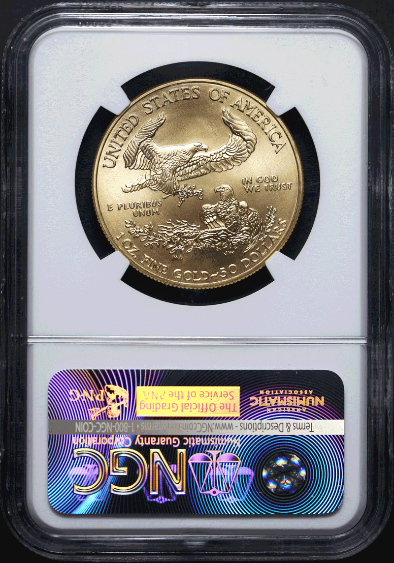 This 2016 Gold American Eagle 50 Has Superb Eye Eal With Fantastic Er And Strike 30th Anniversary Elizabeth Jones Label