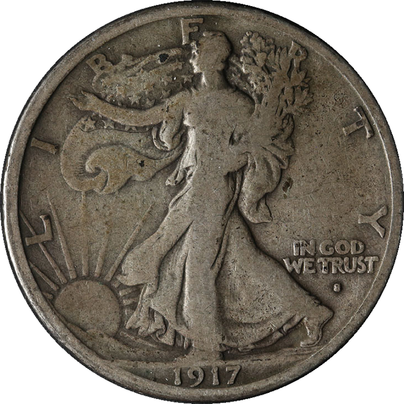 1917-S OBV Walking Liberty Half Great Deals From The Executive Coin Company