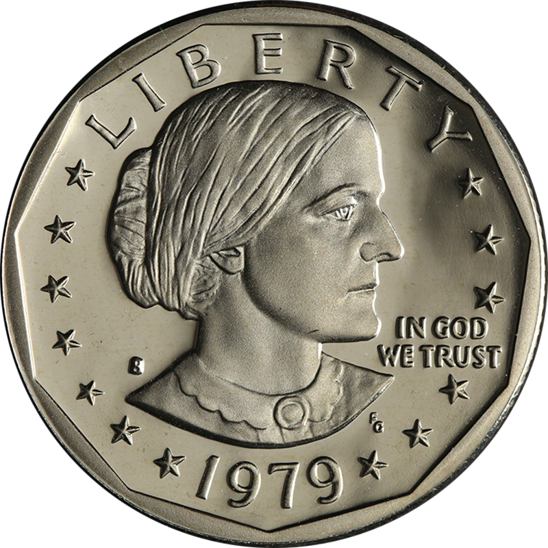 1979 S Susan B Anthony Dollar Type 1 Proof Roll 25 Coins