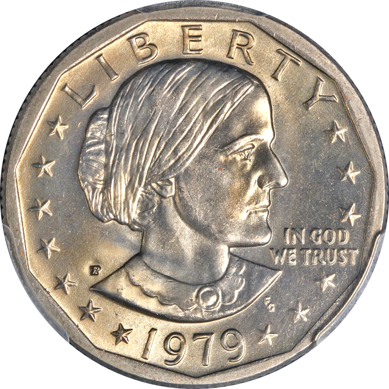 1979-P Susan B  Anthony Dollar PCGS MS66 Wide Rim Near