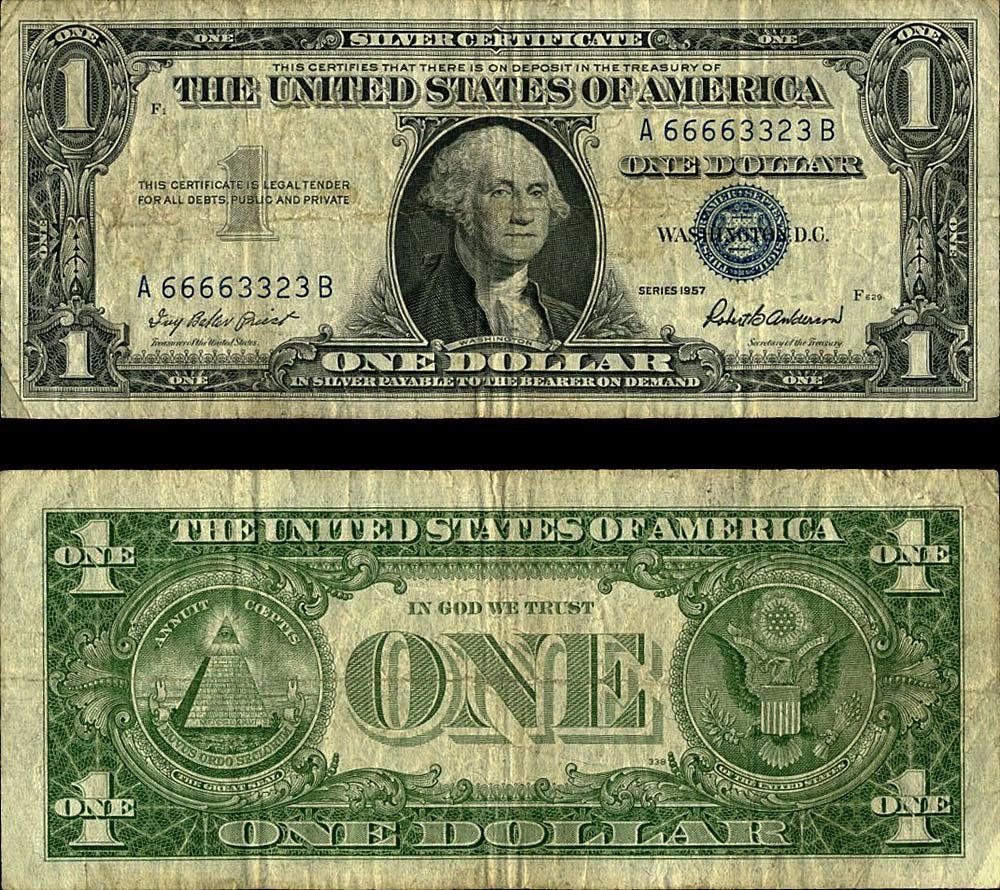 Fr 1619 1 1957 Silver Certificate A66663323b Fine