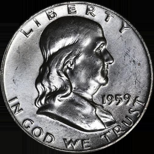 1959-P FRANKLIN HALF DOLLARS Lustrous  Nice to Choice BU/'s 20 Coins Available